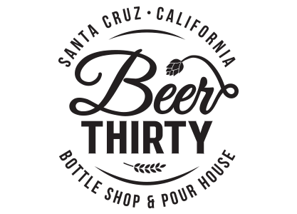 beer thirty logo santa cruz california bottle shop and pour house